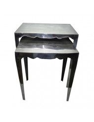 Treasure Trove Accents Accent Table, Curved Tapered Legs
