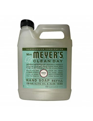 Mrs. Meyer's Clean Day Liquid Hand Soap Refill, 33 fl oz, Basil (Pack of 2)