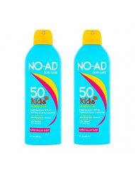 NO-AD Kids Continuous Sunscreen Spray SPF 50 8.7 oz (Pack of 2)