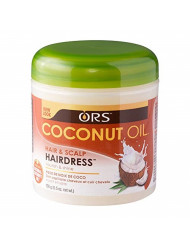 ORS Coconut Oil Hair and Scalp Hairdress 5.5 oz (Pack of 2)