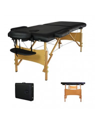 "New 84"" Black Portable Massage Table w/Free Carry Case T1 Chair Bed Spa Facial"