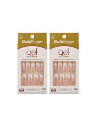 Gold Finger Posh Queen Glue-on Fashion Nails 24 ea ( Pack of 2)