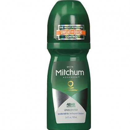 Mitchum Invisible Anti-Perspirant & Deodorant Roll-On, Unscented 3.4 oz (Pack of 3)