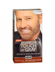 JUST FOR MEN Touch of Gray Hair Color, Mustache & Beard Kit, Light & Medium Brown B-25/35, 1 ea (Pack of 2)