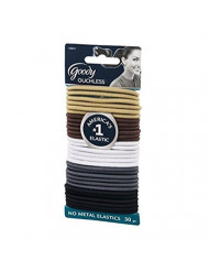 Goody Women's Ouchless Braided Java Bean Elastics, Neutral, 30 Count