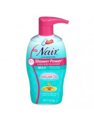 Nair Hair Remover Shower Power Max Argan Oil 13 Ounce Pump (384ml) (6 Pack)