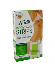 Nads Hair Removal Strips 24 Count For Body (6 Pack)