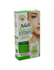 Nads Hair Removal Facial Strips 24 Count (6 Pack)