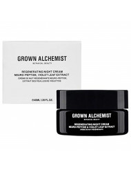 Grown Alchemist Regenerating Night Cream - Neuro-Peptide & Violet Leaf Extract - Face Moisturizer Made with Organic Ingredients (40ml / 1.35oz)