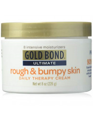 Gold Bond Ultimate Rough & Bumpy Skin Daily Therapy Cream, 8 Ounce Jar (Pack of 3)