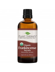Plant Therapy Frankincense Serrata Organic Essential Oil 100% Pure, USDA Certified Organic, Undiluted, Natural Aromatherapy, Therapeutic Grade 100 mL (3.3 oz)