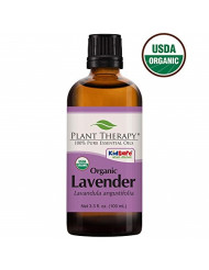 Plant Therapy Lavender Organic Essential Oil 100% Pure, USDA Certified Organic, Undiluted, Natural Aromatherapy, Therapeutic Grade 100 mL (3.3 oz)