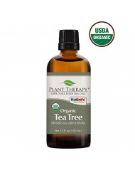 Plant Therapy Tea Tree Organic Essential Oil 100% Pure, USDA Certified Organic, Undiluted, Natural Aromatherapy, Therapeutic Grade 100 mL (3.38 oz)