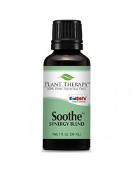 Plant Therapy Soothe (Anti Eczema) Synergy Essential Oil Blend.100% Pure, Undiluted, Therapeutic Grade. Blend of: Lavender, Bergamot, Geranium and Roman Chamomile. 30 mL (1 Ounce).