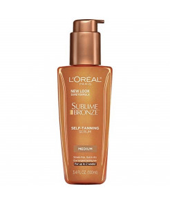 L'Oreal Paris Sublime Bronze Self-Tanning Serum Medium Natural Tan 3.4 fl. oz.