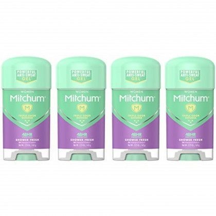 Mitchum Advanced Women Gel Anti-Perspirant & Deodorant, Shower Fresh 2.25 oz (Pack of 4)