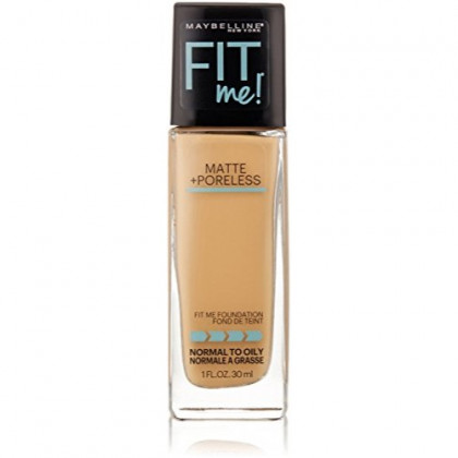 Maybelline New York Fit Me! Matte + Poreless Foundation, Natural Buff [230] 1 oz