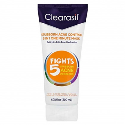 Clearasil Stubborn Acne Control One Minute Mask, 6.78 oz. (Pack of 4)