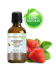 "STRAWBERRY SEED OIL. 100% Pure / Natural / Undiluted Cold Pressed Carrier oil. "" 0.33 Fl.oz.- 10 ml. For Skin, Hair, Lip and Nail Care. ""One of the highest anti-oxidant oil, rich in Omega-3 and Linolenic Acid."" Botanical Beauty."