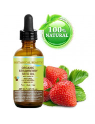 """STRAWBERRY SEED OIL ORGANIC. 100% Pure Moisturizer/ Natural Cold Pressed Carrier oil. 0.5 Fl.oz.- 15 ml. For Skin, Hair, Lip and Nail Care. """"One of the highest anti-oxidant oil, rich in Omega-3 and Linolenic Acid."""" Botanical Beauty."""
