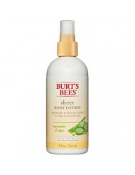 Burt's Bees Sheer Body Lotion - Cucumber and Aloe - 8 oz