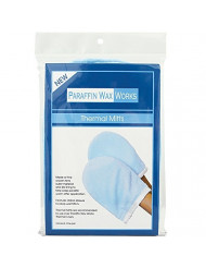 Paraffin Wax Works Thermal Mitts, Blue, for Paraffin Heat Therapy Spa Treatments, Insulates and Retains Heat, Fits All Hand Sizes, One-Pair