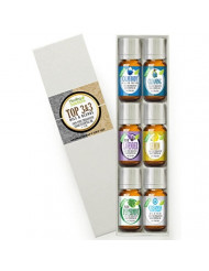 Top 3 Blends & Top 3 Pure Oils Set 100% Pure, Best Therapeutic Grade Essential Oil Kit - 6/10mL (Calm Body/Calm Mind, Cleaning, Lavender, Lemon, Peppermint, Cleanse Body & Mind)