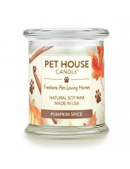 One Fur All - 100% Natural Soy Wax Candle, 20 Fragrances - Pet Odor Eliminator, Up to 60 Hours Burn Time, Non-Toxic, Eco-Friendly Reusable Glass Jar Scented Candles - Pet House Candle, Pumpkin Spice