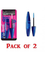 Maybelline New York Volume' Express The Rocket Washable Mascara, Brownish Black [402] 0.3 oz (Pack of 2)
