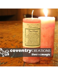 Coventry Creations Soul Mate Affirmation Pillar Spell Candle
