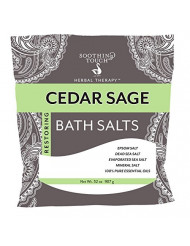 Soothing Touch Cedar Sage Restoring Bath Salts Pouch 32 Oz