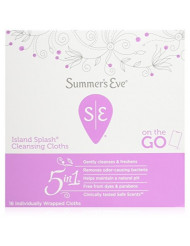 Summers Eve Cleansing Cloths 16 Count Island Splash (2 Pack)