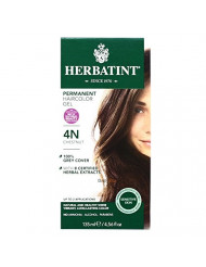 Herbatint Permanent Herbal Hair Color Gel, Chestnut, 4N, 2 pk
