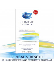 Secret Antiperspirant Deodorant for Women, Clinical Strength Invisible Solid, Stress Response, 1.6 Oz