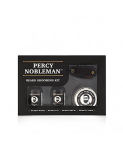 Beard Grooming Kit by Percy Nobleman - A Beard Oil, Wash, Balm and Comb Set For Men. Proudly Made in England by Europe's Leading Beard Grooming Brand