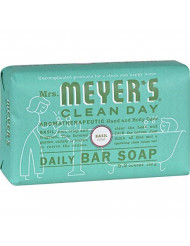 Mrs. Meyer's Clean Day Daily Bar Soap, 5.3 oz, (Basil, Pack of 3)