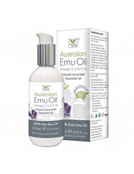 Y-Not Natural- Organic Pharmaceutical Pure Emu Oil (200 ml) | Free Range Aboriginal Omega 369 Oil Infused with Lavender for Hypoallergenic Skin Care, Hair & Healing | All Natural Source of Vitamin K2