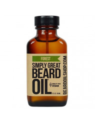 Simply Great Beard Oil - FOREST Scented Beard Oil - Beard Conditioner 3 Oz Easy Applicator - Natural - Vegan and Cruelty Free Care for Beards - America's Favorite
