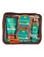 Tree Hut Essential Travel Kit, Coconut Lime, 4 Items in One Bag, for Nourishing Essential Body Care on the Go!