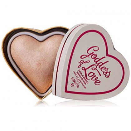 Makeup Revolution Blushing Hearts Triple Baked Highlighter, Goddess of Love