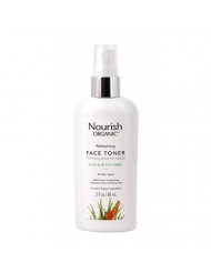 Nourish Organic Refreshing & Balancing Face Toner, Rosewater and Witch Hazel, 3 Ounce