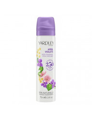 Yardley April Violets for Women Deodorant Body Spray, 2.6 Ounce