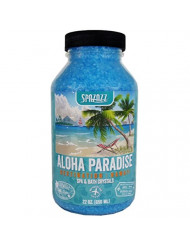 Spazazz SZCH SPZ-303 Hawaii Aloha Paradise Destination Crystals Container, 22 oz. Aromatherapy, Blue