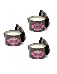 Kama Sutra Massage Candle Island Passion Berry 6 Ounce for Seductive Massage (Set of 3)