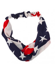 Lux Accessories American Flag Stars Stripes 4th of July Stretch Headband Head Band