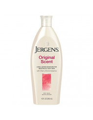 Jergens Original Scent Dry Skin Moisturizer with Cherry Almond Essence, 10 Fl Oz