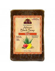OKAY African Black Soap Mango, Mango, 5.5 Ounce