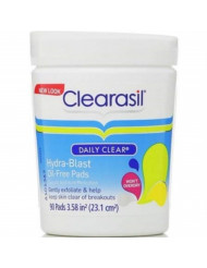 Clearasil Gentle Prevention Daily Facial Cleansing Pads, 90 Count, Oil-Free (Packaging may vary) (Pack of 6)