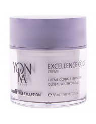 YON-KA - AGE EXCEPTION EXCELLENCE CODE CREME (1.75 Ounces / 50 Milliliters) - Unique and Specialized Anti-Aging Cream Designed for Mature and Hormonally Imbalanced Skin Types