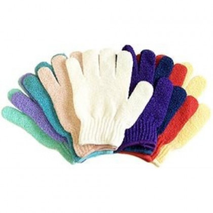 5 Pair Exfoliating Gloves - Bath & Shower Deep Scrub Cloth Gloves - Best Body Hydro Exfoliating Mitt Gloves for Soap & Body Wash - Helps With Skin Firming, Wrinkle, Scar, Cellulite & Stretch Mark Reduction By Removing Dead Skin Cells, Stimulat